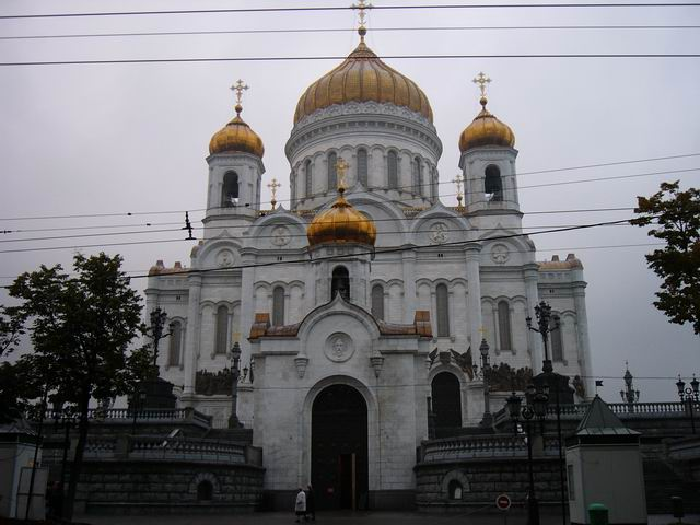 выход из храма Христа Спасителя