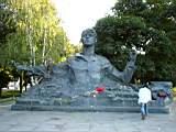 A monument of Sergey Esenin