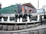 фонтан и лошади возле Манежа