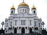 центральный вход в храм Христа Спасителя